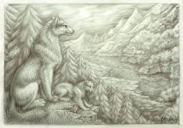 wolves in the forest by omegalioness on deviantart