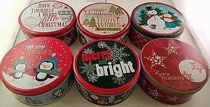 cookie tins nesting metal gift boxes