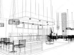 sketch design of interior restaurant u2014 stock photo yaryhee 51055359