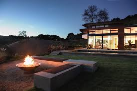Contemporary Firepit Modern Pits Patio Contemporary With Deck Exterior Firepit