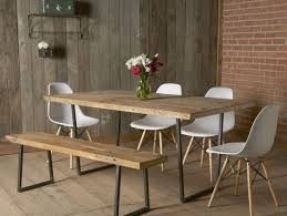 dining room sets with benches rustic tin walls dining room contemporary with modern art rustic