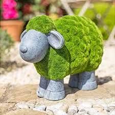la hacienda flocked sheep garden ornament on sale fast delivery