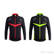 warm cycling jacket wosawe men windproof warm cycling clothes outdoor sport running