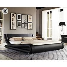 curved bed frame faux leather curved bed frame black