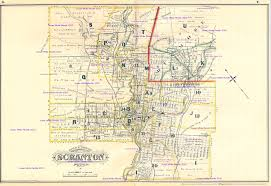 Pennsylvania On The Map by 1877 Atlas City Of Scranton Pennsylvania