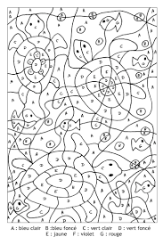 23 best coloriage magique images on pinterest color by numbers