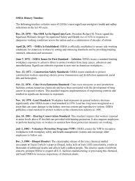 osha technical manual noise osha history timeline occupational safety and health