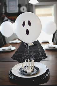 balloon ghost table setting halloween ideas table settings and
