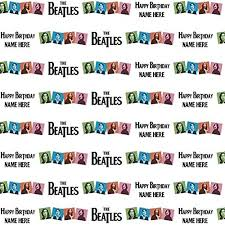 beatles wrapping paper the beatles personalised birthday gift wrap with 2 tags add a