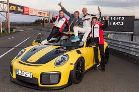 porsche 911 gt2 rs is the quickest production car on the nurburgring