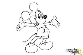 how to draw mickey mouse full body drawingnow