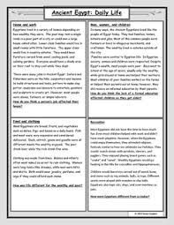 ancient egypt daily life reading and worksheet by james gasparo
