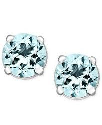 aquamarine stud earrings aquamarine earrings shop aquamarine earrings macy s