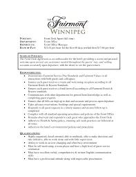 Medical Front Office Resume Hotel Front Desk Resume Sample Resume Peppapp