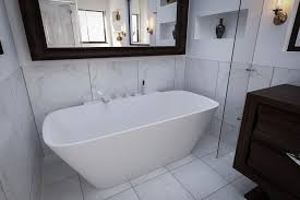 Freestanding Bathtub Canada Aquatica Arabella Wall Back To Wall Solid Surface Bathtub