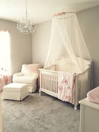 Nursery Chandelier Girly Pink Blush Nursery With Chandelier Ivory Rocker And Glider