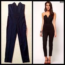 strapless jumpsuit black 49 asos dresses skirts asos strapless bandeau black