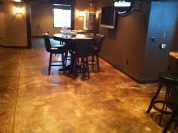 Baseme Concrete Stain Basements Basement Floor That Has Been Acid