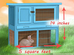 Rabbit Hutch Indoor 3 Ways To Choose A Rabbit Cage Wikihow