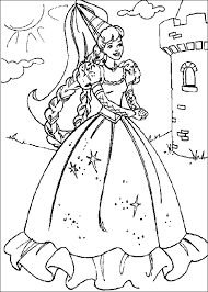 barbie coloring pages funycoloring
