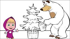masha bear coloring pages