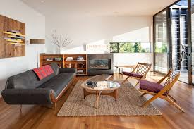 mid century media living room midcentury with tete a tete sofa