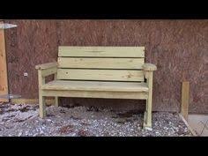 Plans To Make A Park Bench by Today I Show You How To Make A Park Bench With A Reclined Seat
