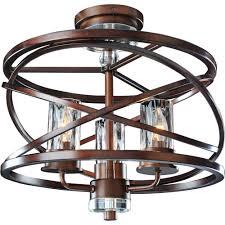Copper Flush Mount Light Kalco Lighting Kal 6605ez Eternity Etruscan Bronze Semi Flush