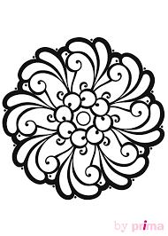 Mandalas à imprimer des rosaces faciles à colorier  Femme Actuelle