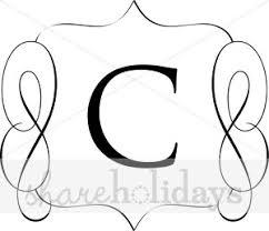 classic monogram c monogram letters