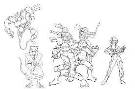 Ninja Turtles 124 Superheroes  Printable coloring pages