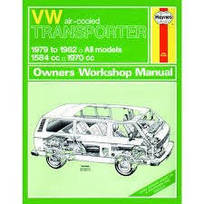 haynes manual vw transporter air cooled 1 6 2 0 petrol 79 82 up