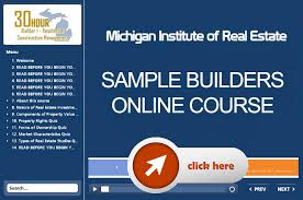 6 hours class online michigan education michigan builders license 60 hour online