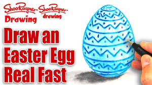 how to draw an easter egg quick and easy youtube
