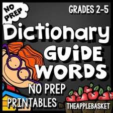 thumbnail of dictionary skills review worksheet 4th grade