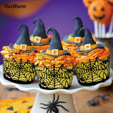 aliexpress com buy halloween decorations 12pcs cupcake wrappers