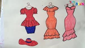 how to draw fashion clothes for kids 13 how to draw dresses for