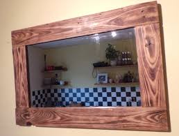 Wood Mirror Frame Reclaimed Wood Mirrors Dave U0027s Beach Hut