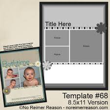 free 8 5 11 scrapbook template 68 no reimer reason