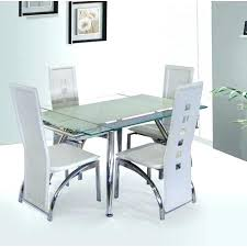 White Glass Extending Dining Table Extendable Glass Top Dining Table Denniswoo Me