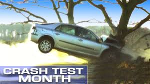 crash test month crashing into a tree at 55mph youtube