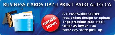 Business Cards San Francisco Up2u Printing Services Color Copy Digital Offset Printing Best