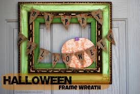 Fall Halloween Wreaths by Halloween Frame Wreath