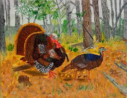 thanksgiving turkey painting by swabby soileau