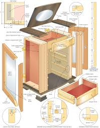 Woodworking Plans Bedside Table Free by Storage Shelf Construction Plans Diy Blueprint Download Bunk Idolza