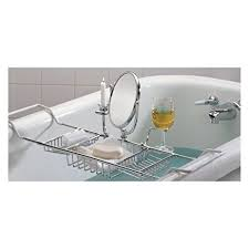Clawfoot Bathtub Caddy Amazon Com Taymor Ultimate Bathtub Caddy Chrome Home U0026 Kitchen