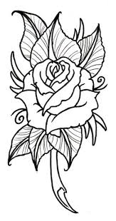 beauty and the beast stained glass rose tattoo