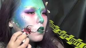 i caught a mermaid glamour sfx makeup tutorial 2014 youtube