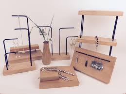 necklace bracelet display images New fashion solid wood metal earrings display holder pendant with jpg