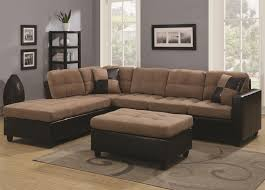 Small Scale Sectional Sofas Furniture Brown Velvet Sectional Sofa With Chaise And Back Also